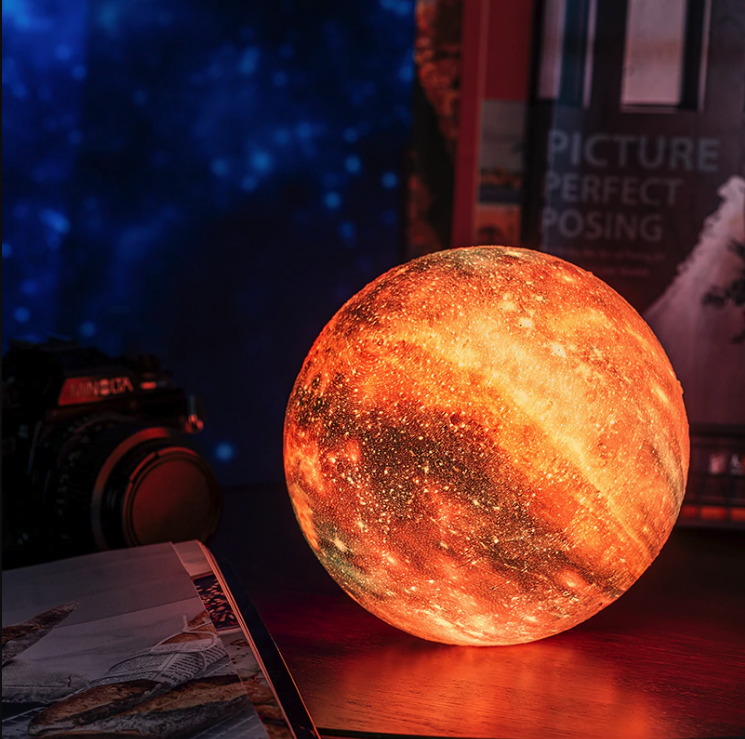 3d Print Star Moon Colorful Lamp In 2020 Colorful Lamps Planet Lamp Metal Lighting