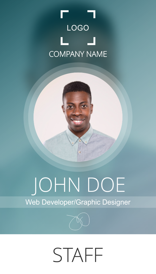 company id badge template