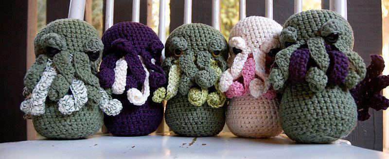 PATTERN - Cthulhu Crocheted Amigurumi   Pinterest