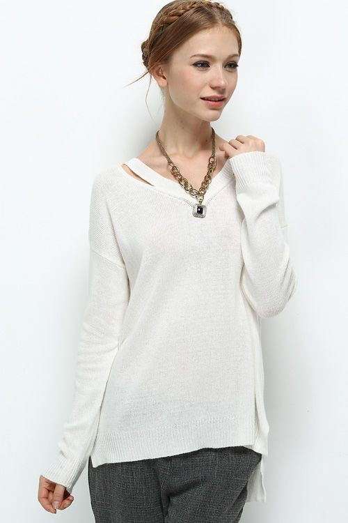 Marielle Sweater in Soft White