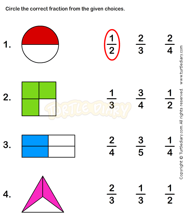 Fractions Worksheet 1 Math Worksheets Grade 1 Worksheets
