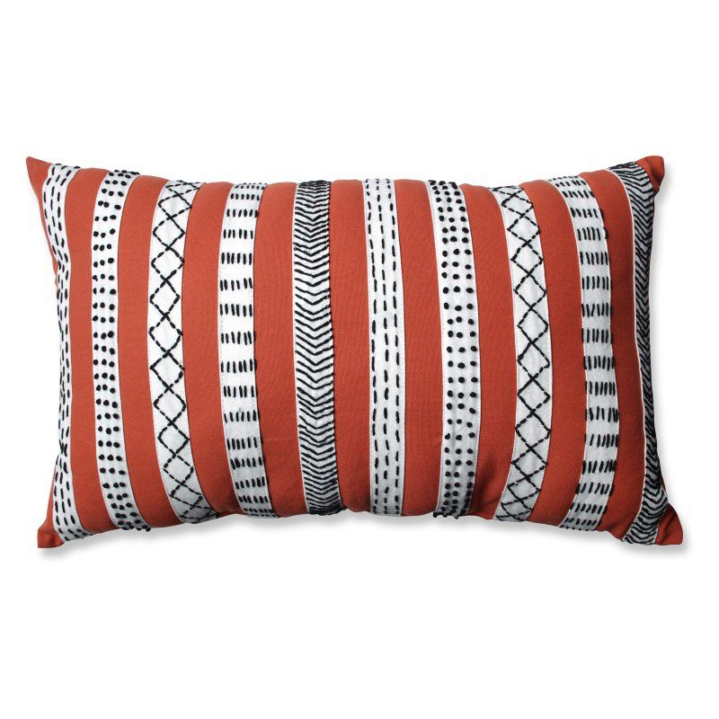 Pillow Perfect Tribal Bands Decorative Throw Pillow Rust - 598703