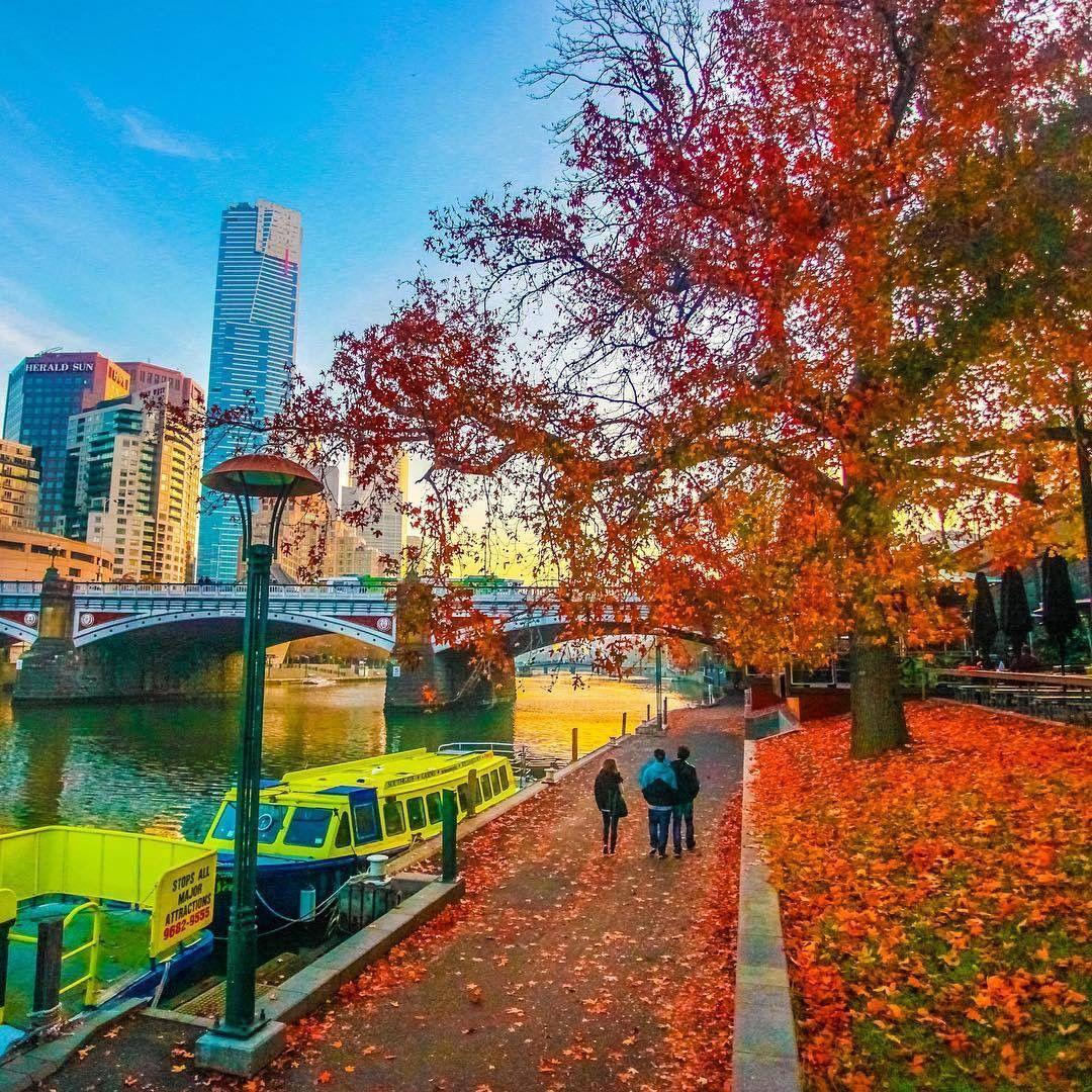 Strolling Along The Yarra River In Autumn Melbourne Travel Australia Wallpaper Melbourne Victoria