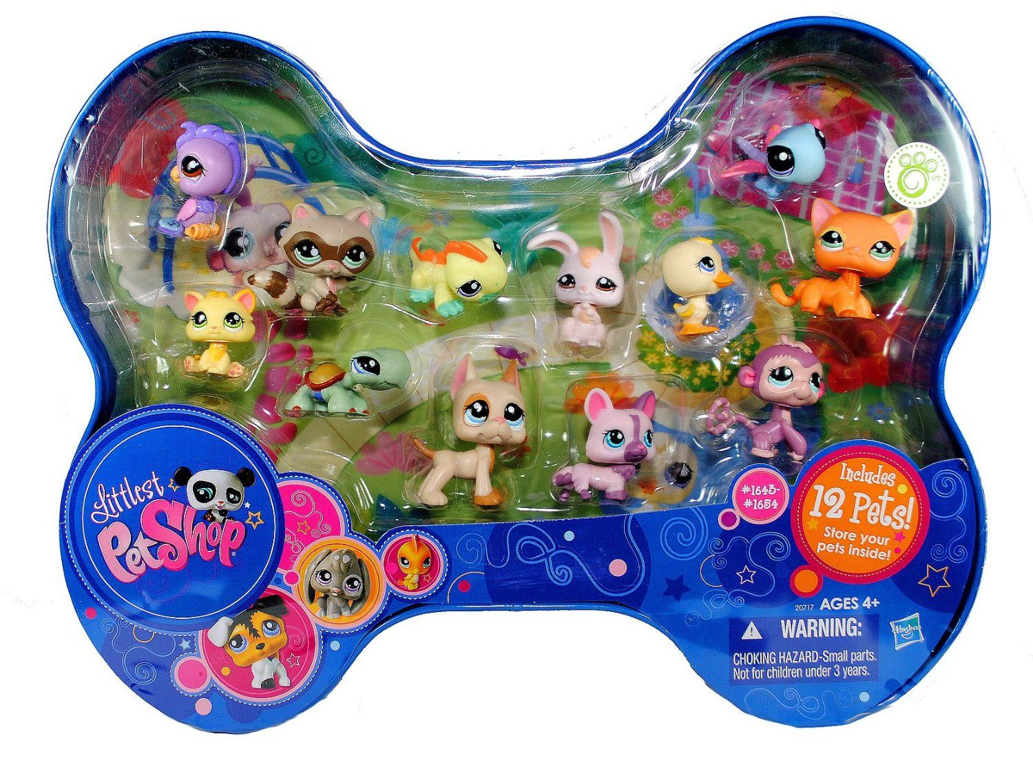 Amazon Com Hasbro Year 2009 Littlest Pet Shop 12 Pets Series Bobble Head Pet Figure Case Set With Orange Short Little Pet Shop Toys Littlest Pet Shop Pet Shop