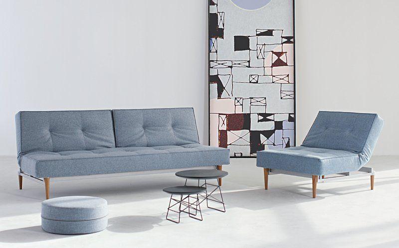 Splitback light wood bäddsoffa från Innovation living Splitback light wood sofa bed from