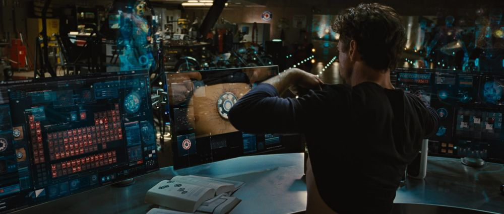 tony stark office. Having Quasi-transparent Monitor Screens And Holographic OS Projections In My Personal Office Would Add Tony Stark