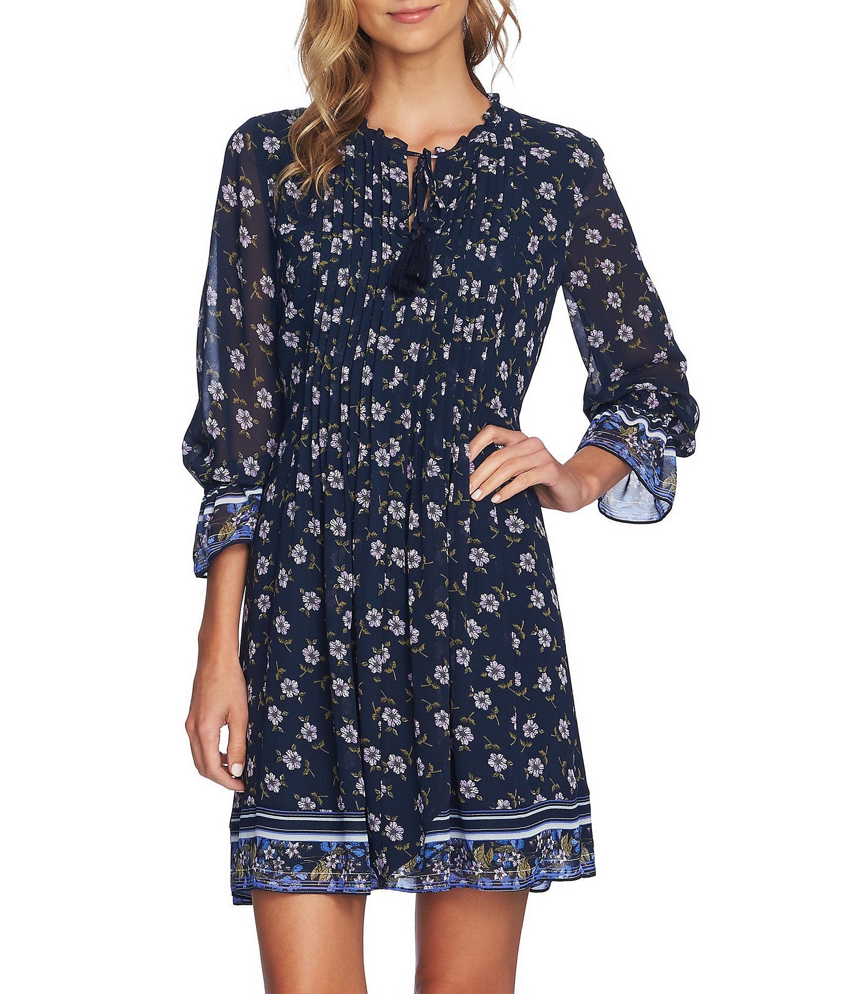 43abebf29bb Shop for CeCe Romantic Ditsy Floral Print Trellis Poet Sleeve A-Line Dress  at Dillards.com. Visit Dillards.com to find clothing