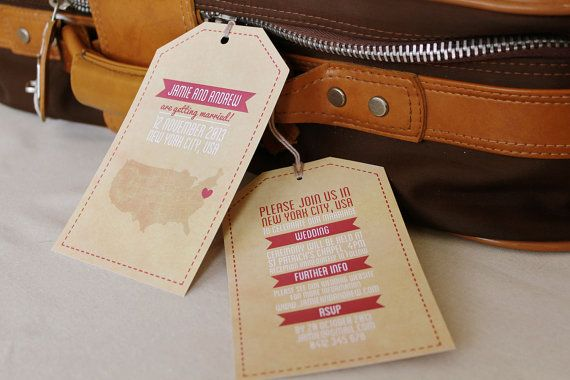 Love the tag shape, either as save the date or in the invite
