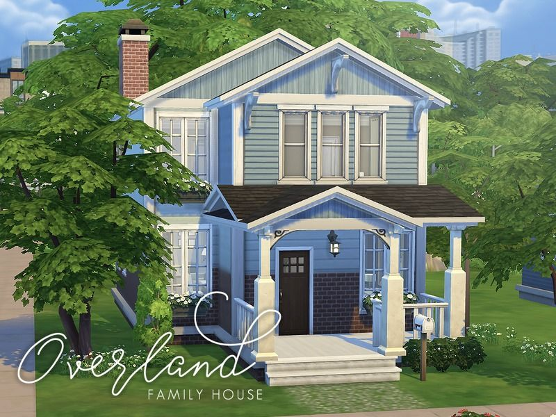 This Is A Cute Family Home That Has 3 Bedrooms 3 Bathrooms And A Study It Is Perfect And Practical For Growing Sims House Sims 4 House Building Family House