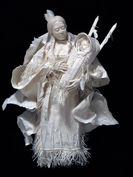 Amazing--Paper Art. Mother and Baby.