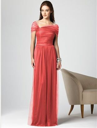 long coral bridesmaid dress | Wedding | Pinterest | Coral ...