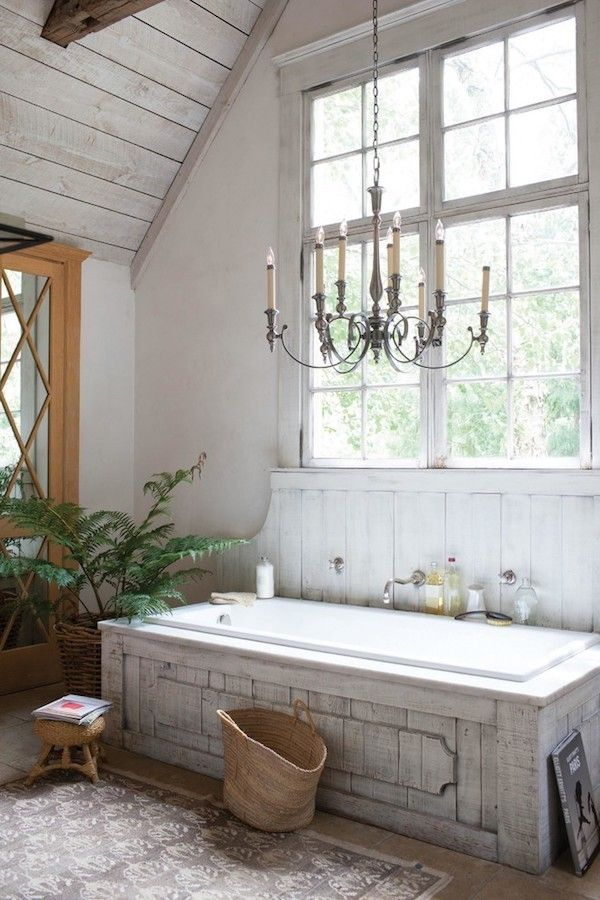 Badezimmer Im Shabby Chic Stil Materialien Und Farben Kombinieren ...    Kronleuchter Für Badezimmer