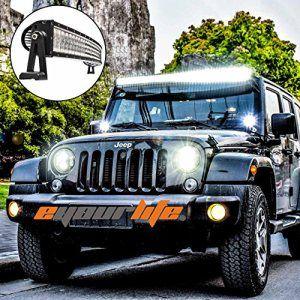 Eyourlife jeep wrangler 52 inch curved led light bar jk jeep eyourlife jeep wrangler 52 inch curved led light bar aloadofball Image collections