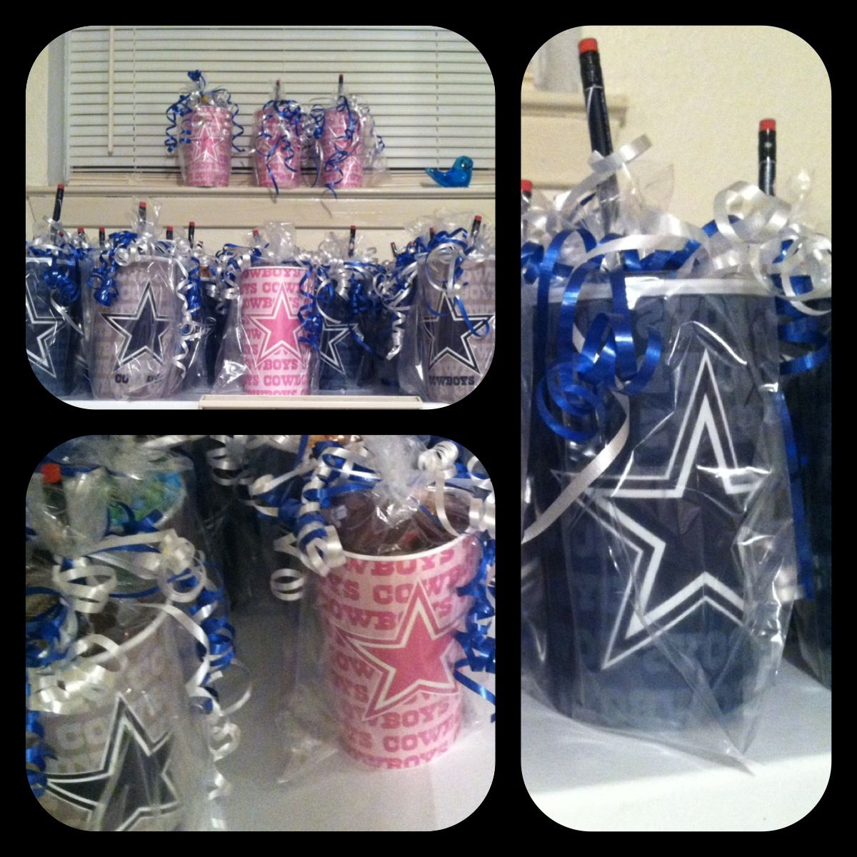 Dallas Cowboy Goody Bags Inexpensive Cups Filled With