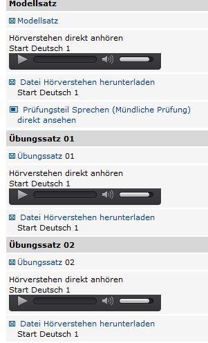 Online Material Prüfung A1 Deutsch Zertifikat Prüfung