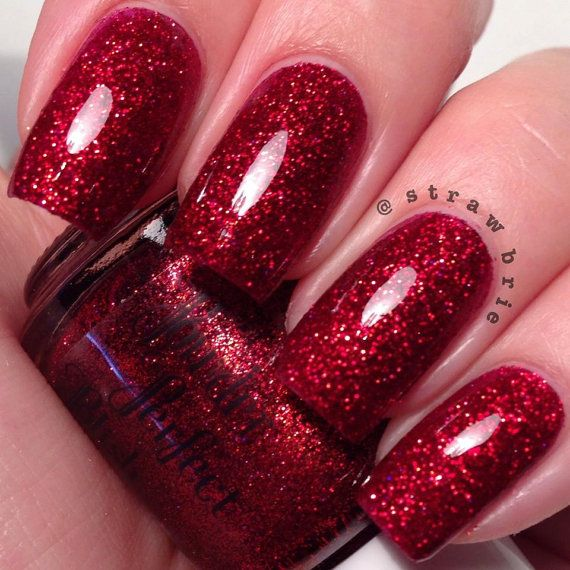 25+ Best Ideas About Red Glitter Nails On Pinterest