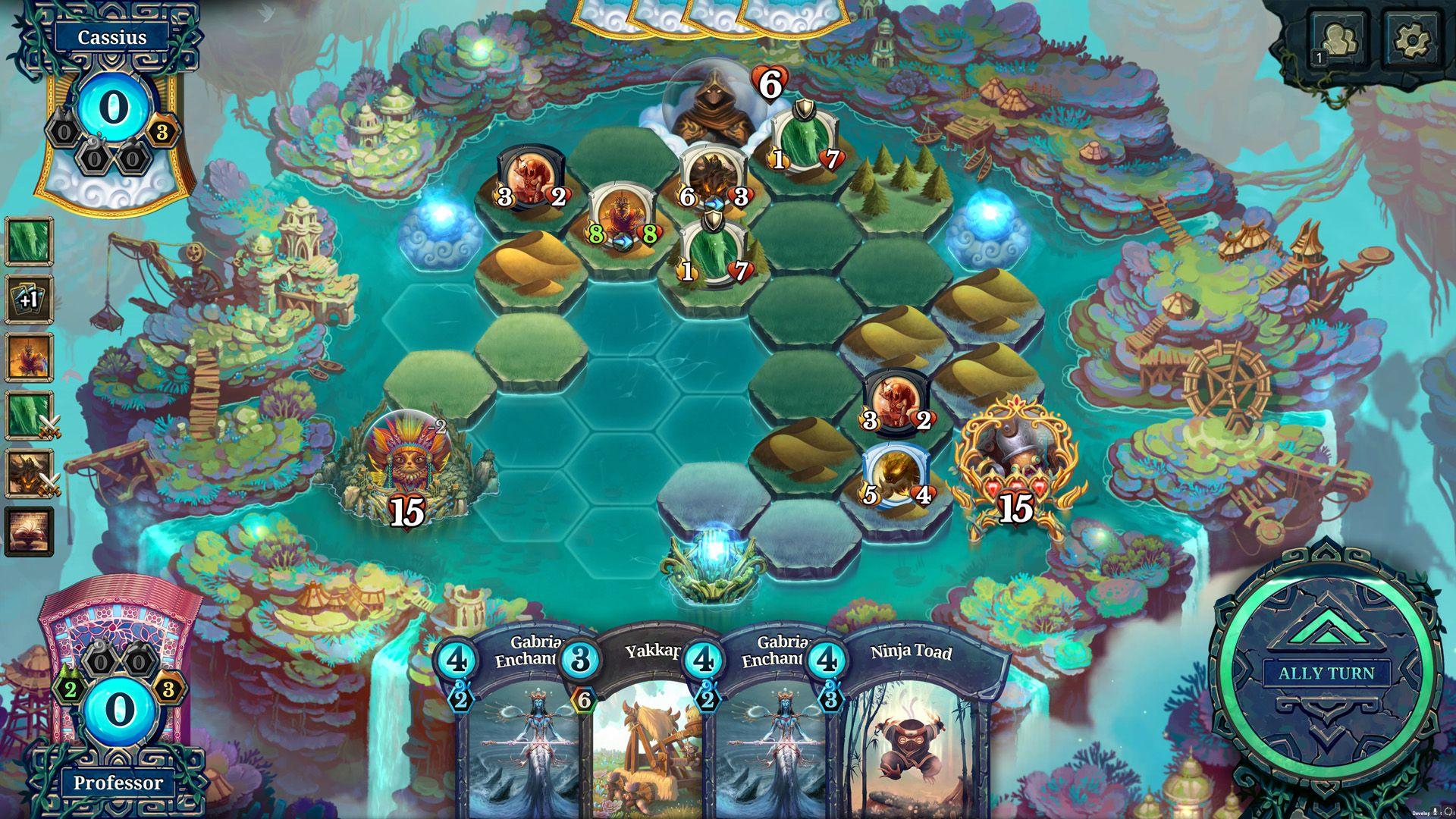 Faeria epic games card games set card game
