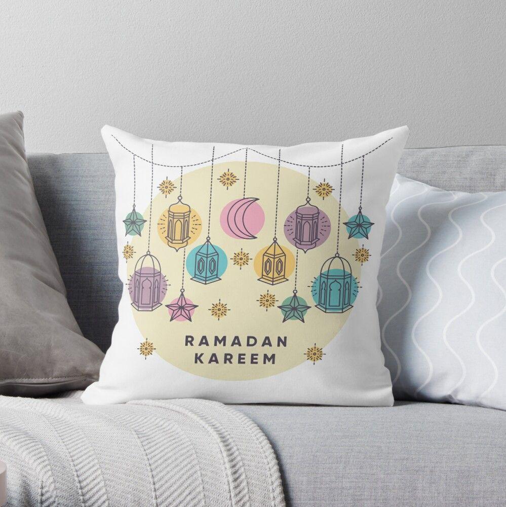 Ramadan Kareem شهر رمضان مبارك Throw Pillow By Zwzn In 2021 Throw Pillows Ramadan Kareem Ramadan