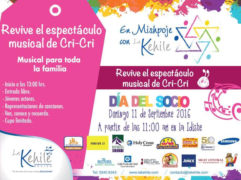 Revive el espectáculo musical de Cri-Cri - http://diariojudio.com/evento/revive-el-espectaculo-musical-de-cri-cri/