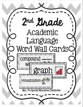 Complete 2nd Grade Academic Language Word Wall Cards