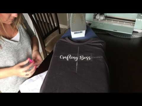 a7042cac How to make an iron-on tshirt with Cricut and heat transfer vinyl HTV -  YouTube