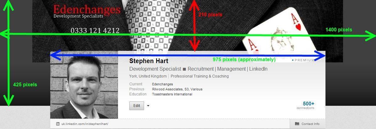 Edenchanges LinkedIn Background Pixel Sizes   Linkedin ...