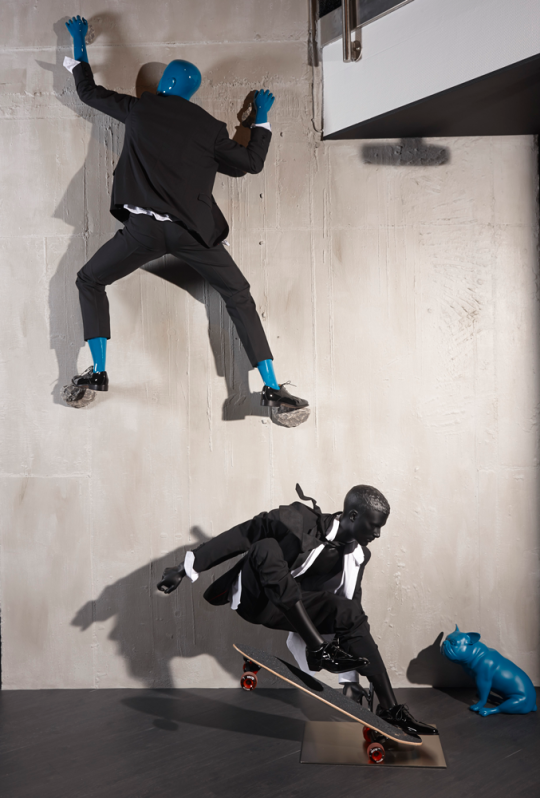 """GENESIS MANNEQUINS, Auetel, Germany, """"With their defined, muscular bodies these mannequins show typical poses from various sports"""", (Athletix Range), pinned by Ton van der Veer"""