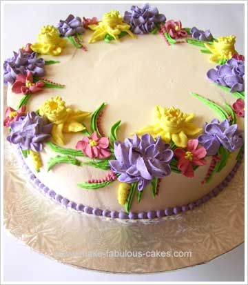 Make a Flower Birthday Cake Buttercream flower cake Buttercream