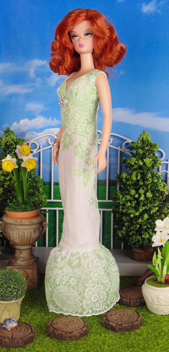 Peridot Lace for Silkstone Barbie Poppy Parker & by HankieChic