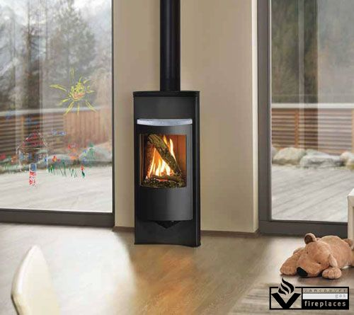 Luno by Hearthstone from Vancouver Gas Fireplaces. The Luno gas stove is  specifically designed to - Corner Gas Fireplace Fireplaces Pinterest Corner Gas