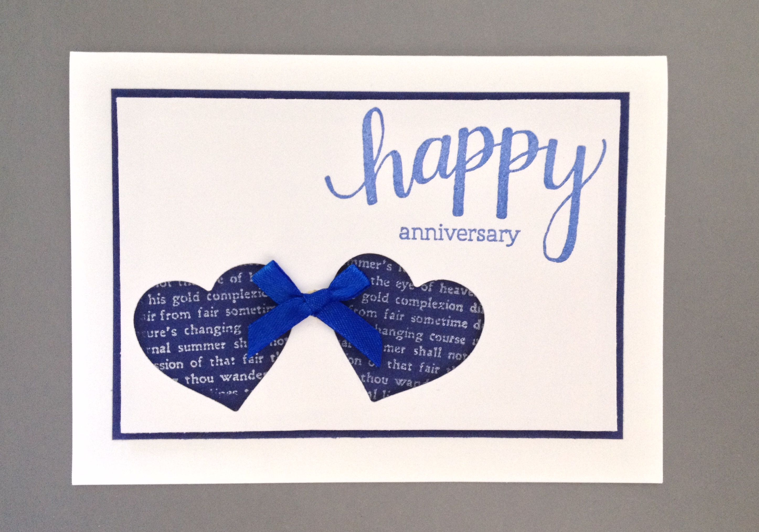 Blue Hearts Anniversary Card Anniversary Cards Wedding Cards Happy Anniversary