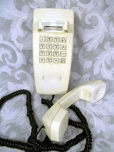 Sold Vintage 1980 S At T Kitchen Wall Push Button Phone W Long