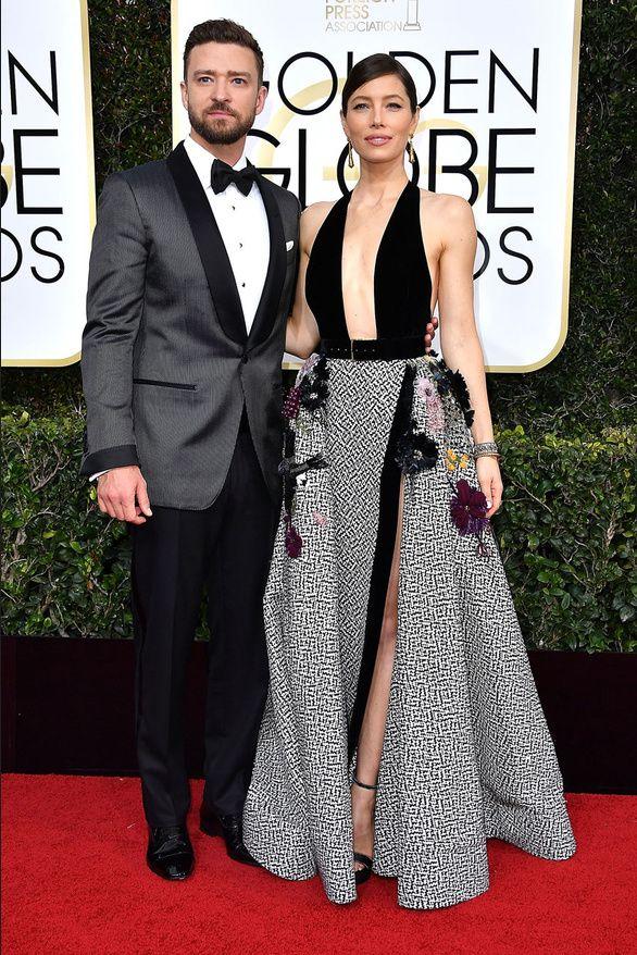 Le tapis rouge des Golden Globes 2017 - Justin Timberlake Jessica Biel