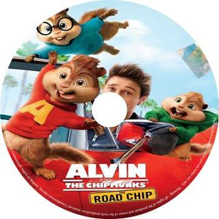 Alvin And The Chipmunks The Road Chip 2015 R0 Label Cartoon