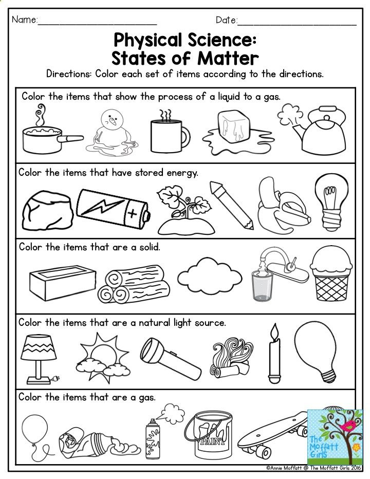 Physical Science: States of Matter. This is a great exercise for ...