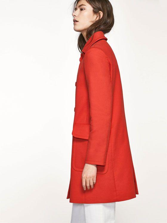 Massimo dutti abrigo rojo
