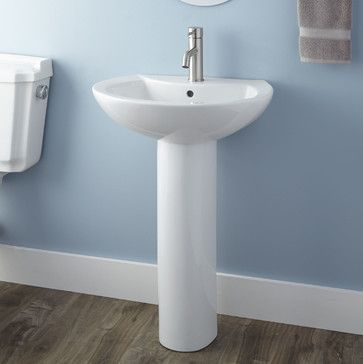 Maisie Pedestal Sink - contemporary - Bathroom Sinks - Signature