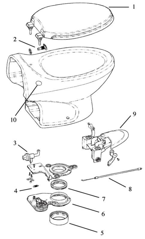 thetford aria classic rv toilet repair parts diagram  rv