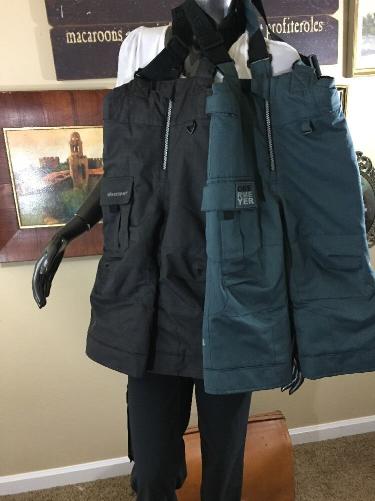 7fc0acb796a8 Obermeyer I Grow Bib overalls snow ski pants Kids Size 3 Charcoal ...