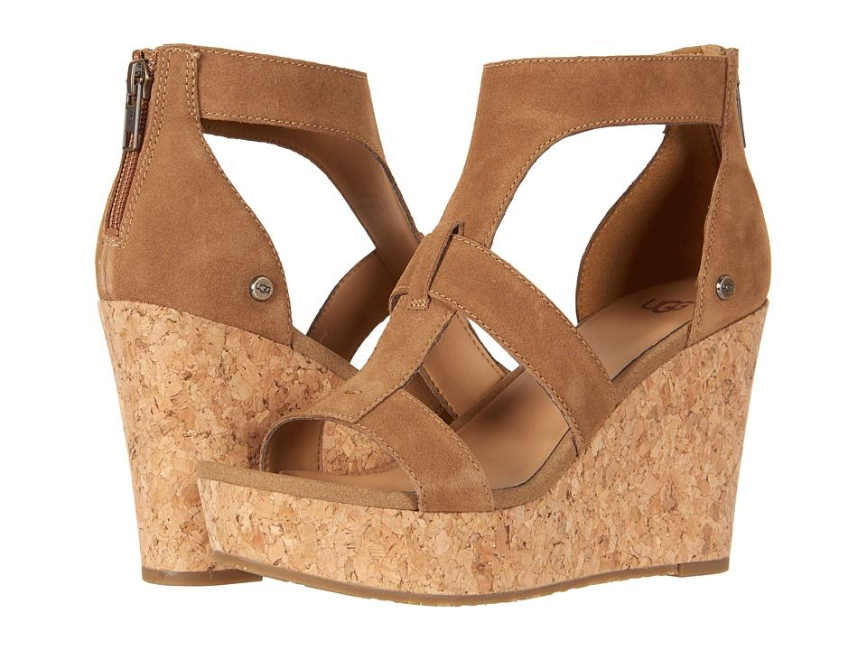 3a85846ab990 UGG Whitney Women s Wedge Shoes Chestnut