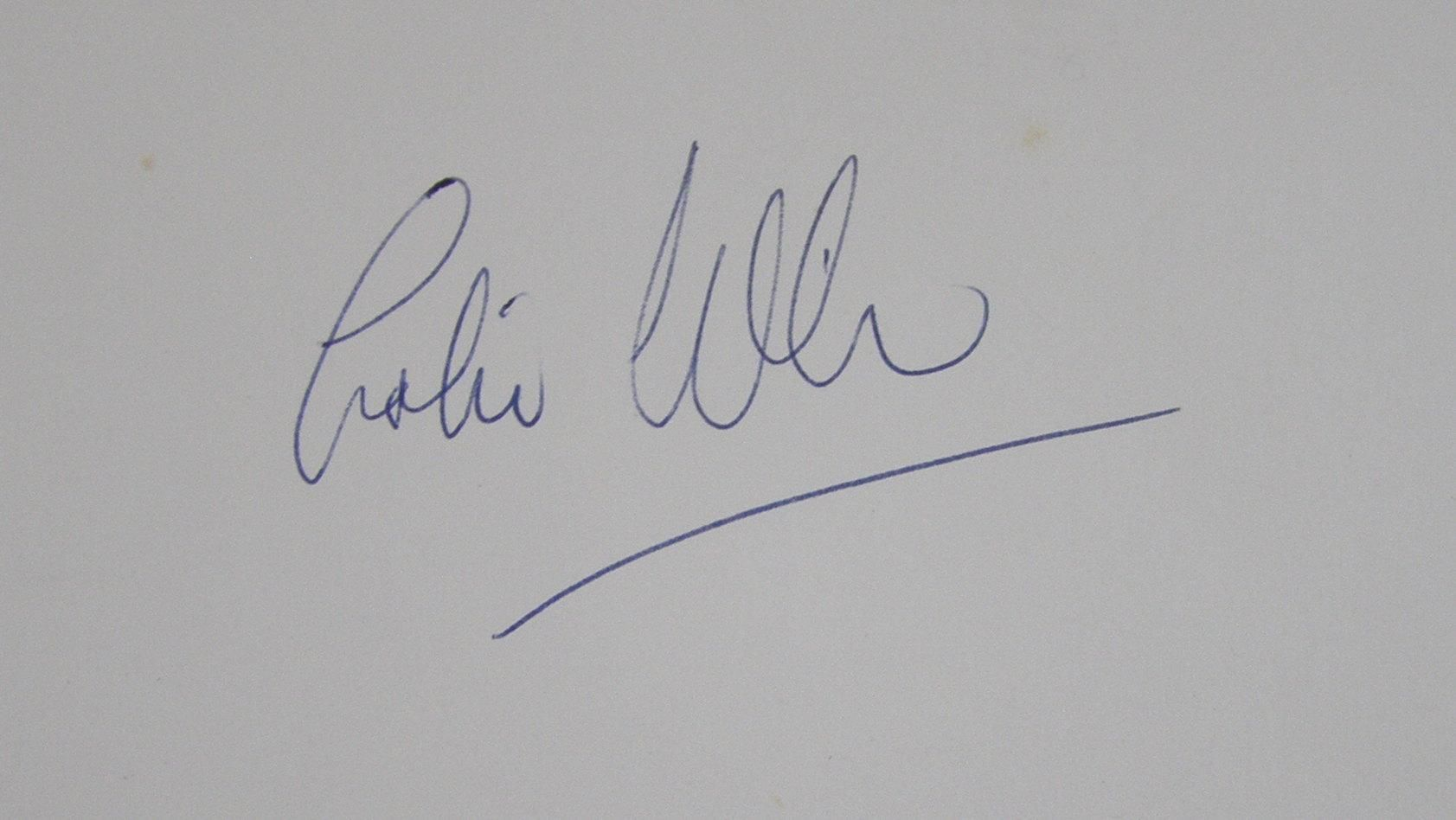 Colin wilson signed book for reference purposes if