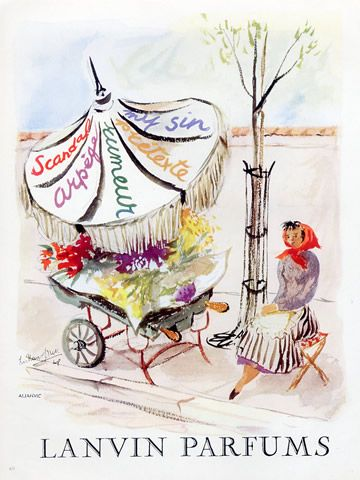 Parfums Lanvin 1948 Illustration De Guillaume Gillet Pour