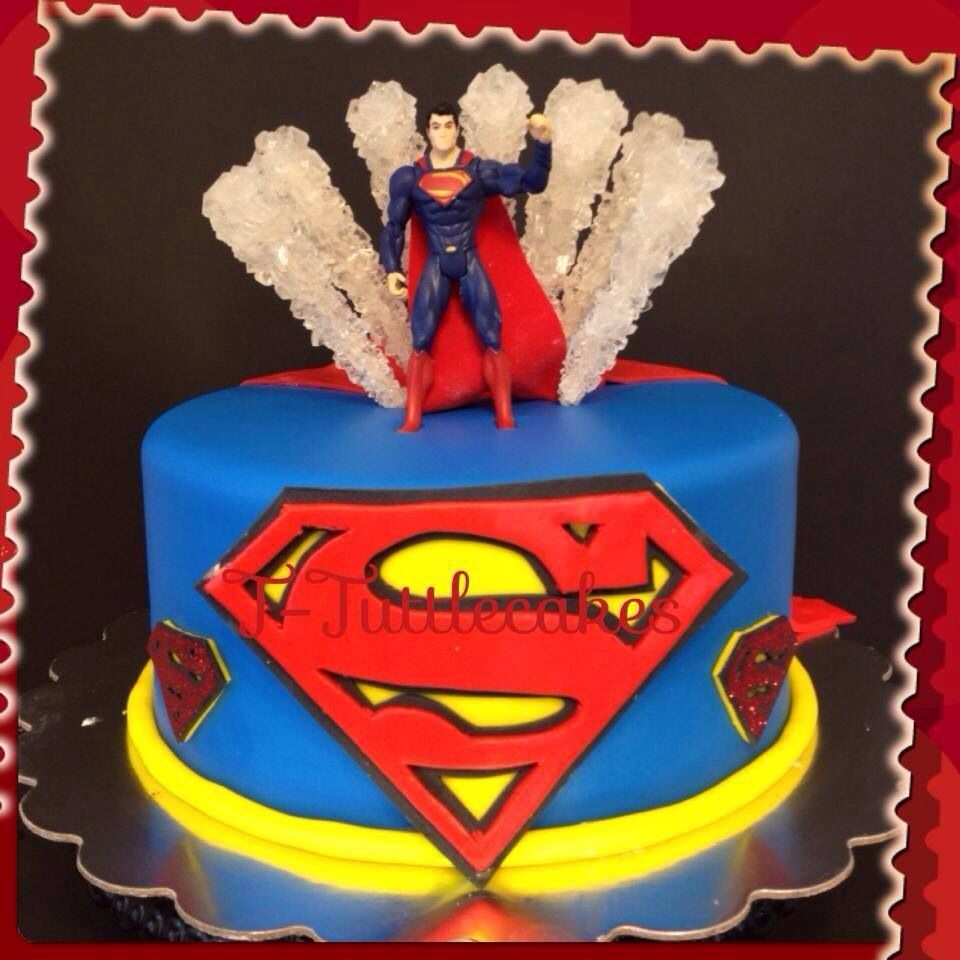 Cake Images Superman : Superman cake Crazypartyplanner Pinterest