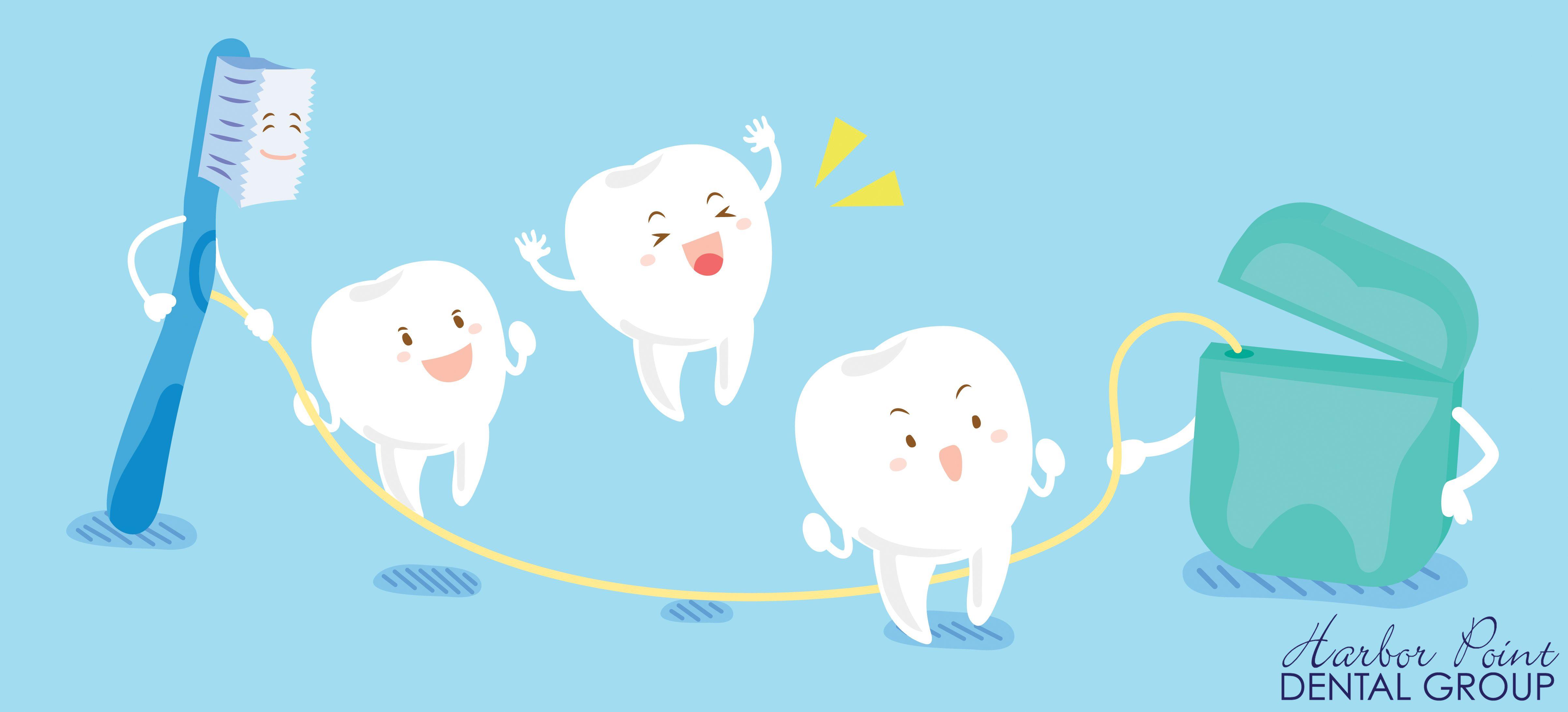 menyikat gigi dan flossing