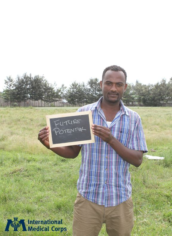 July 3:  A man in Ethiopia shares his hope for the future.  Photo: International Medical Corps Staff, Ethiopia 2013