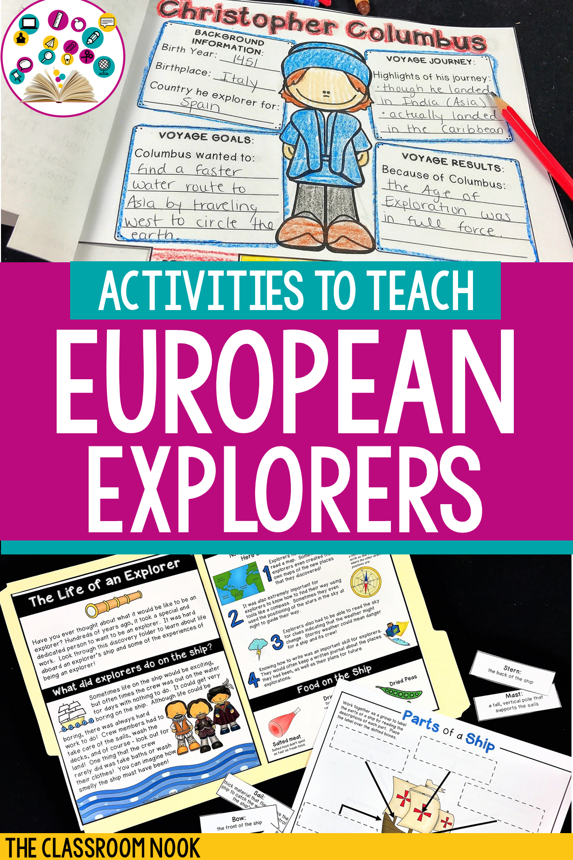small resolution of European Explorers \u0026 Age of Exploration   Print or Digital   Distance  Learning   European explorers