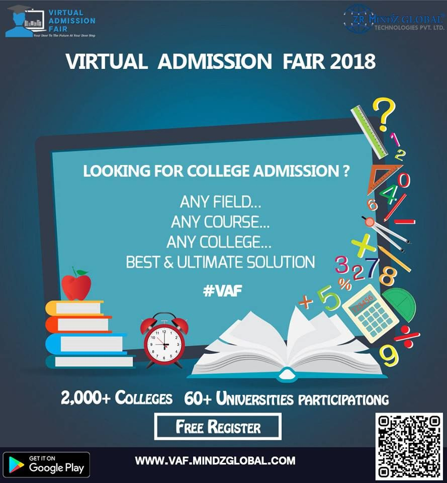 Virtual Admission Fair (VAF) 2018 will be an excellent