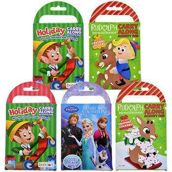 Licensed Holiday Travel Activity Packs (Set of 5)