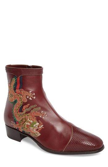 Gucci Men's Dragon Zip Boot OWuAi