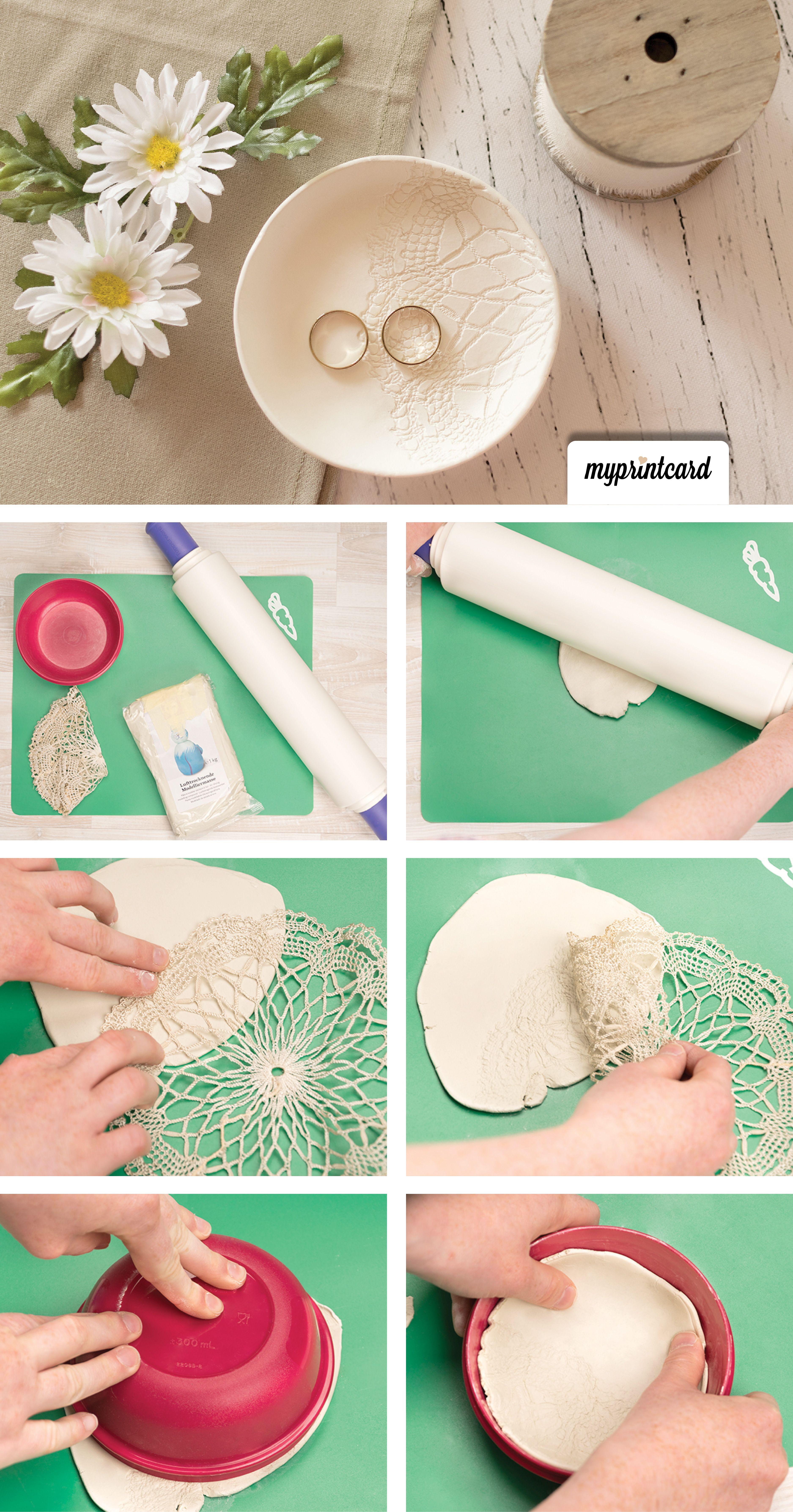 Eine Schone Vintage Ringschale Kann Man Ganz Einfach Selber Machen Diy Anleitung Basteln Hochzeit Tutorial Diy Clay Crafts Clay Crafts Diy Crafts To Sell